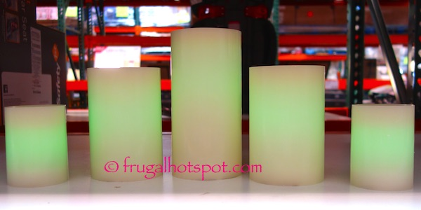 5 Color Changing LED Wax Candles Costco | Frugal Hotspot
