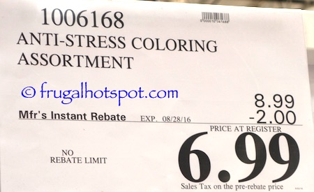 Anti-Stress Coloring Book Costco Price | Frugal Hotspot