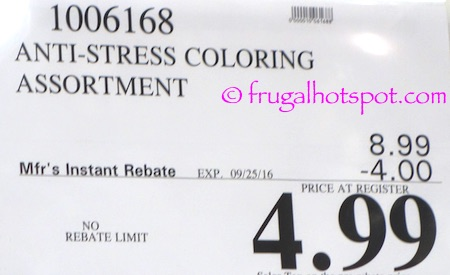 Anti-Stress Coloring Books Costco Price \ Frugal Hotspot
