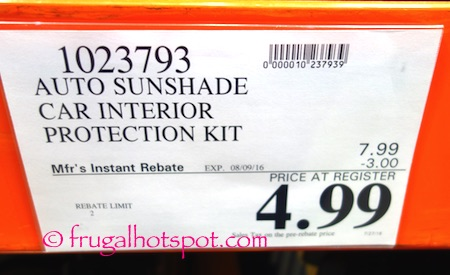 Auto Sunshade 3-Piece Car Interior Protection Kit Costco Price | Frugal Hotspot