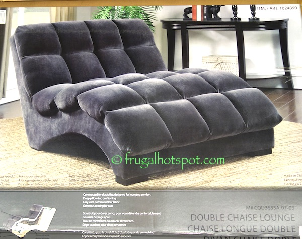 Costco Bainbridge Double Chaise Lounge 349 99 Frugal