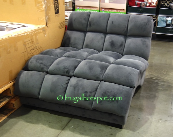 Costco bainbridge double chaise lounge frugal for Chaise lounge costco