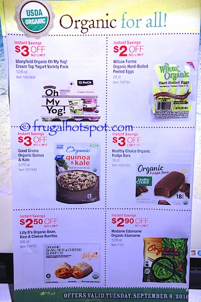 Costco Organic Coupon Book (9/6/16 - 10/3/16). Page 5. | Frugal Hotspot