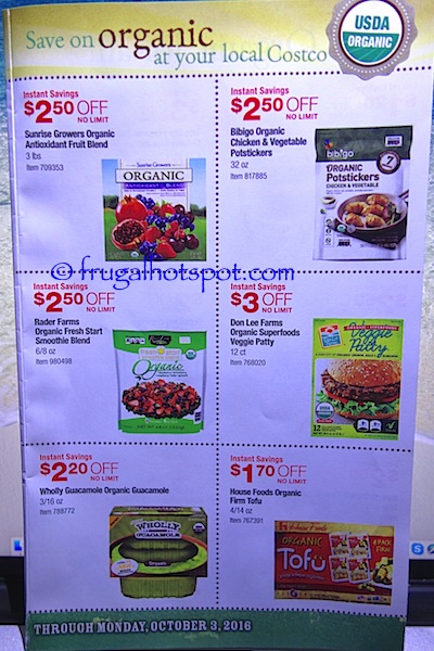 Costco Organic Coupon Book (9/6/16 - 10/3/16). Page 6. | Frugal Hotspot
