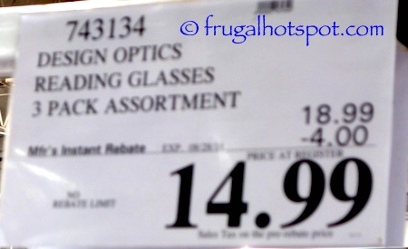Design Optics Reading Glasses 3-Pack by Foster Grant Costco Price \ Frugal Hotspot