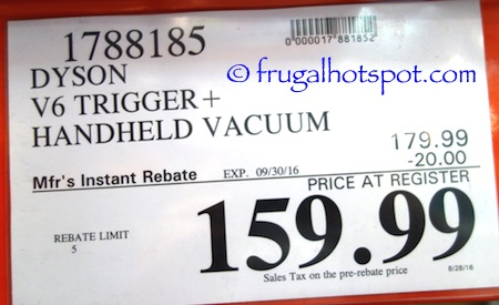 Dyson V6 Trigger+ Handheld Vacuum Costco Price | Frugal Hotspot