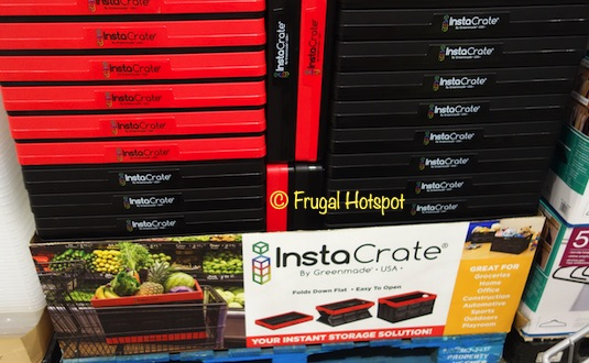 Greenmade InstaCrate Collapsible 12 Gallon Storage Bin Red | Costco