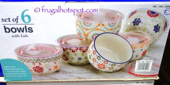 Signature Housewares Gypsy Bowls 6-Piece Set Costco