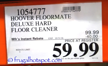 Hoover Floormate Deluxe Hard Floor Cleaner Costco Price | Frugal Hotspot