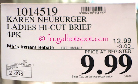 Karen Neuburger Microfiber Ladies Brief 4-Pack Costco Price | Frugal Hotspot