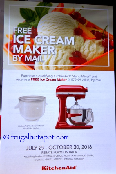 KitchenAid 6-Quart Bowl Lift Stand Mixer Rebate Costco | Frugal Hotspot