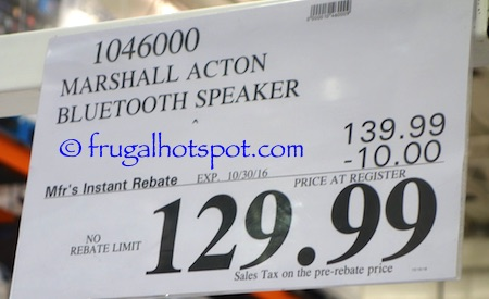 Marshall Acton Bluetooth Speaker Costco Price | Frugal Hotspot