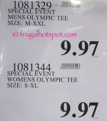 Men's Olympic T-Shirt Costco Price | Frugal Hotspot