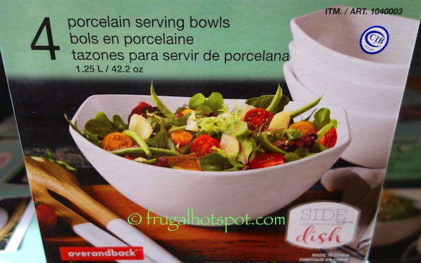 Over and Back Side Dish 4-Piece Serving Bowl Set Costco | Frugal Hotspot