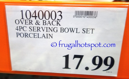 Over and Back Side Dish 4-Piece Serving Bowl Set Costco Price | Frugal Hotspot