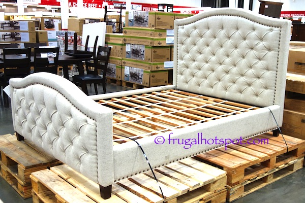 Costco Pulaski Furniture Queen Upholstered Bed Frugal Hotspot