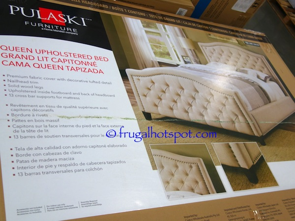 Pulaski Furniture Queen Upholstered Bed Costco | Frugal Hotspot
