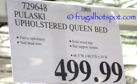 Pulaski Furniture Queen Upholstered Bed Costco Price | Frugal Hotspot