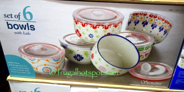 Signature Housewares Gypsy Bowls 6-Piece Set Costco | Frugal Hotspot