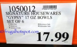 Signature Housewares Gypsy Bowls 6-Piece Set Costco Price | Frugal Hotspot