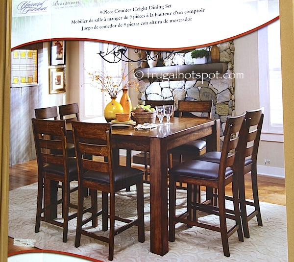 Universal Furniture Broadmoore 9-Piece Counter Height Dining Set Costco | Frugal Hotspot