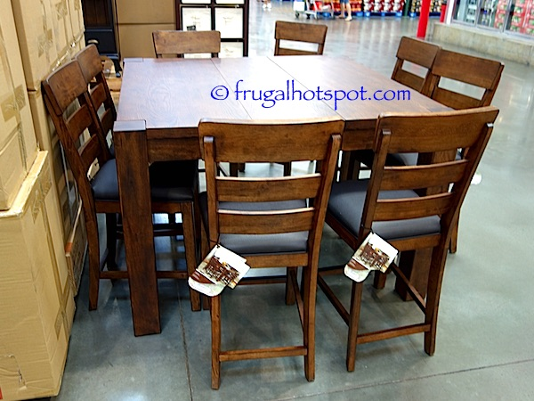 costco: broadmoore 9-pc counter height dining set $999.99 | frugal