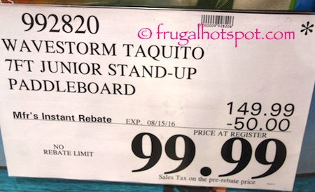Wavestorm Taquito 7-Ft Junior Stand-Up Paddleboard Costco Price | Frugal Hotspot