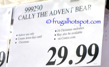 Cally the Advent Bear Costco Price | Frugal Hotspot