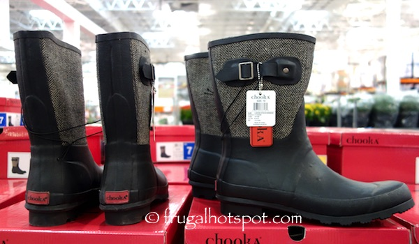 Chooka Ladies Herringbone Rain Boot Costco | Frugal Hotspot