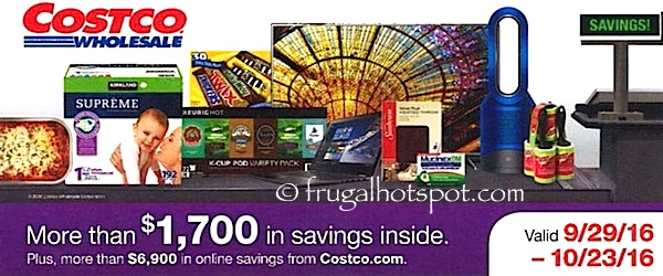 Costco Coupon Book: September 29, 2016 – October 23, 2016. | Frugal Hotspot
