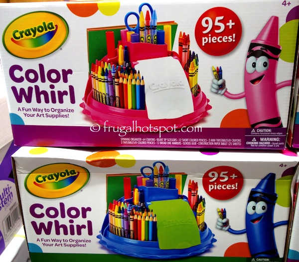 Crayola Color Whirl Caddy Art Supply Set Costco | Frugal Hotspot