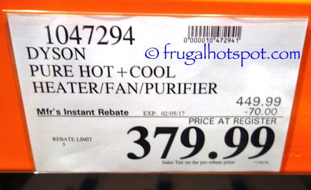 Dyson Pure Hot+Cool Heater/Fan/Purifier Costco Price | Frugal Hotspot