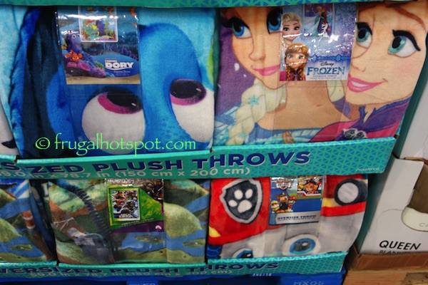 Oversized Plush Throw Assorted Characters Costco | Frugal Hotspot
