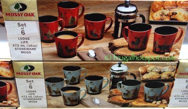 Mossy Oak Lodge Life Stoneware 6 Piece Mug Set Costco Frugal Hotspot