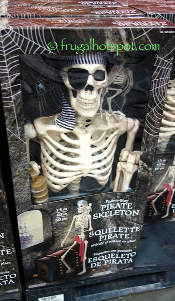 Pose-n-Stay Pirate Skeleton with Parrot Costco | Frugal Hotspot