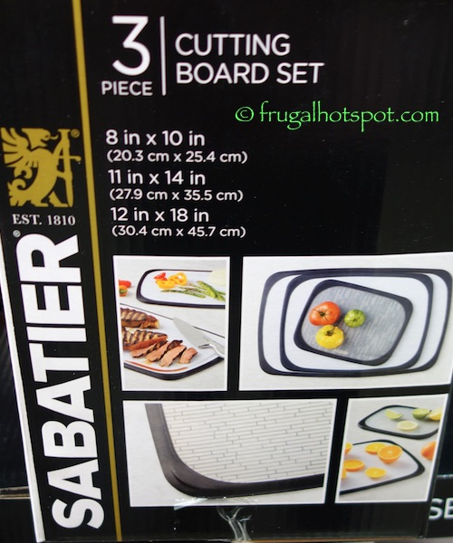 Sabatier 3-Piece Cutting Board Set Costco | Frugal Hotspot