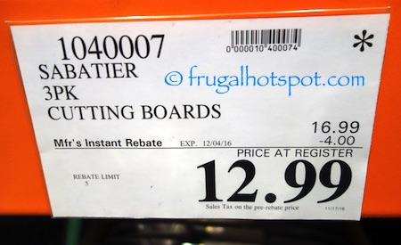 Sabatier 3-Piece Cutting Board Set Costco Price | Frugal Hotspot