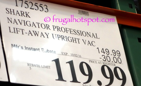 Shark Navigator Professional Lift-Away Upright Vacuum Costco Price | Frugal Hotspot