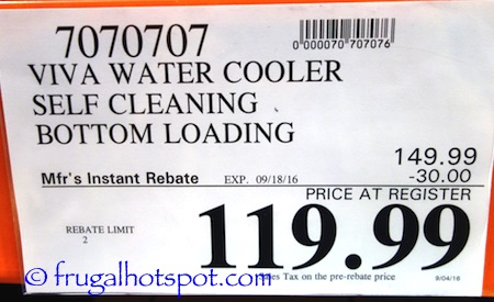 Viva Self Clean Commercial Grade Water Cooler Costco Price | Frugal Hotspot