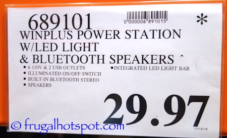 Winplus Power Station w/Bluetooth Speaker and LED Work Light Costco Price | Frugal Hotspot