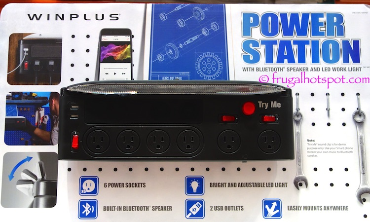 Winplus Power Station w/Bluetooth Speaker and LED Work Light Costco | Frugal Hotspot