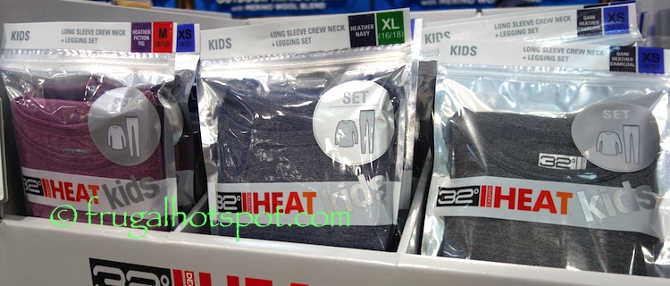32 Degrees Heat Kids Long Sleeve Crew Neck Top + Legging Set Costco | Frugal Hotspot