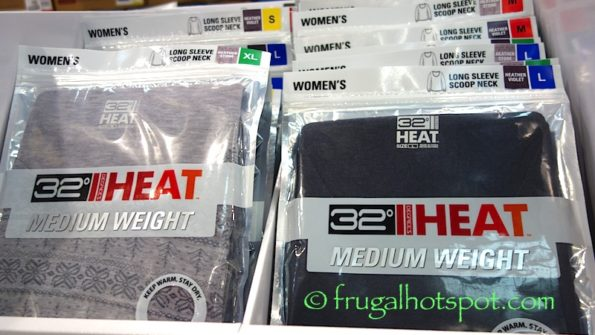 32 Degrees Heat Women's Long Sleeve Scoop Neck Thermal Top at Costco