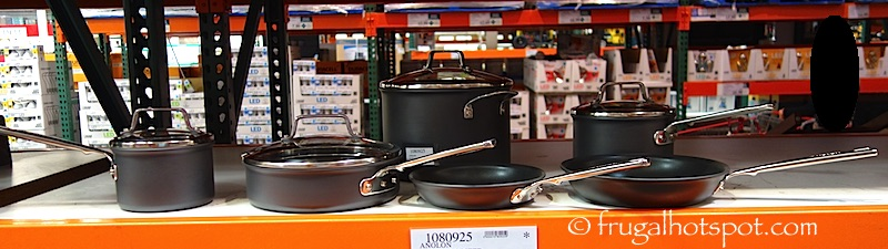 Anolon Authority Hard Anodized 10-Piece Cookware Set Costco | Frugal Hotspot