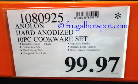Anolon Authority Hard Anodized 10-Piece Cookware Set Costco Price | Frugal Hotspot
