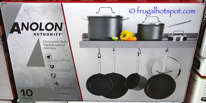 Costco Clearance: Anolon Authority Hard Anodized 10-Pc Cookware Set $99.97