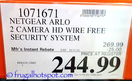 Netgear Arlo 2 Camera HD Security System Costco Price | Frugal