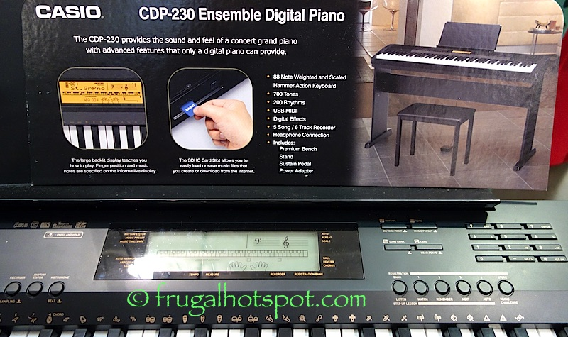 Casio CDP-230 Ensemble Digital Piano Costco | Frugal Hotspot