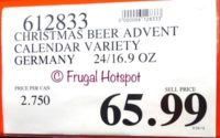 Costco Price: Brewer's Advent Calendar with 24 German Beers 2018