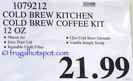 Cold Brew Kitchen Cold Brew Coffee Kit Costco Price | Frugal Hotspot